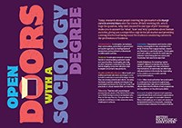 Discover Sociology - Open Doors with a Sociology Degree image.